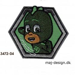 PJ Masks Gekko Broderet strygemærke 6 x 7 cm 3472-04