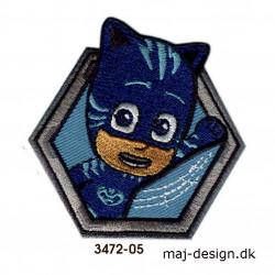 Pj Masks Catboy broderet strygemærke 7 x 7 cm 3472-05