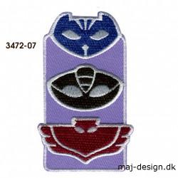 Pj Masks Masker broderet strygemærke 3472-07