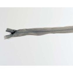 Lynlås usynlig 22 cm stål grå
