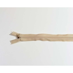 Lynlås usynlig 22 cm Beige