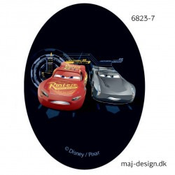 Cars 3 Mcqueen og Storm Printet strygelap 11x8 cm