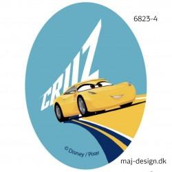 Cars 3 Cruz Printet strygelap 11x8 cm