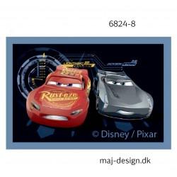 Cars 3 Mcqueen og Storm printet strygemærke 4,5x7 cm