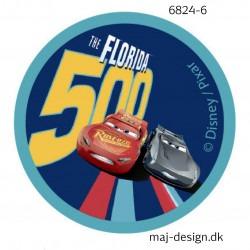 Cars 3 Mcqueen og Storm printet strygemærke Ø 6,5 cm