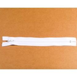 Lynlås 4mm sprial hvid 19 cm