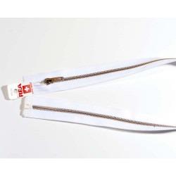 Rea lynlås 60 cm delbar Hvid/sølv 6mm