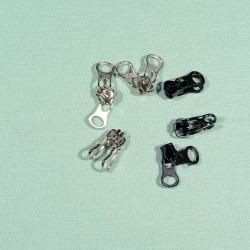 6mm glider med dobbeltgreb til delrin lynlås