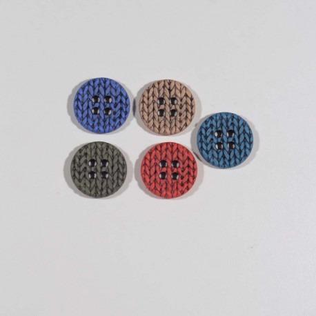 Knap 25 mm 4-hul strik