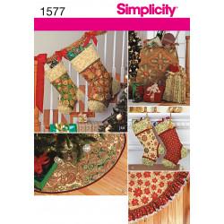 Juletræs tæppe , julesokker og puder Snitmønster