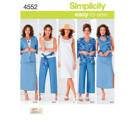 Kjole jakke bukser også plusmode snitmønster
