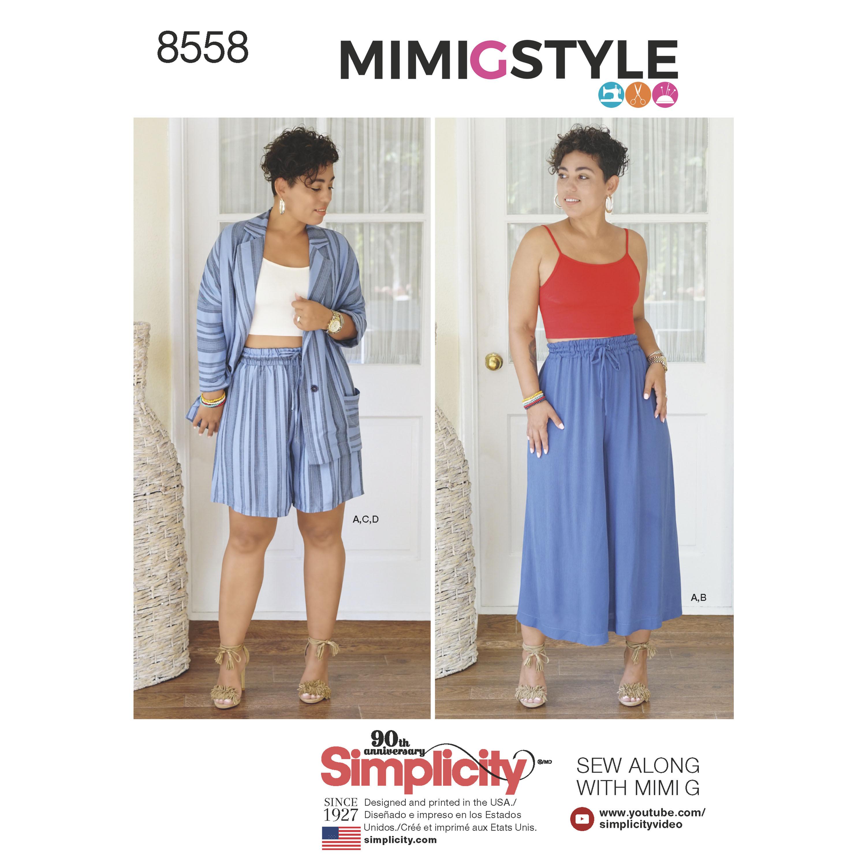 Løse shorts jakke bukser og top mimiGstyle snitmønster også