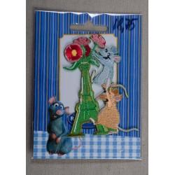 Ratatouille, Remy og Eifeltårnet 8x6cm Strygemærke Disney