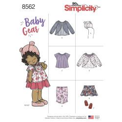 Babytøj jakke bukser kyse og sko snitmønster