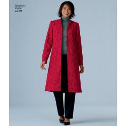 Frakke tunika og kjole også plusmode snitmønster 4789