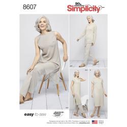 Bukser kjole og tuniks slank model snitmønster 8607
