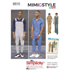 Herre overalls og jumpsuit MimiGstyle snitmønster