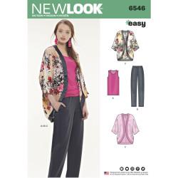 Top bukser og kimono snitmønster New Look easy