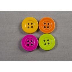 Knap 4-huls 27mm i stærke farver