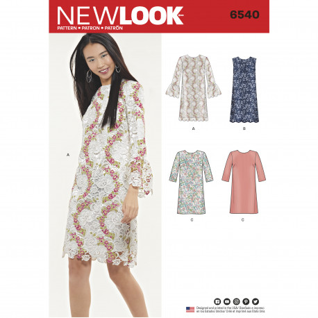 Blonde kjole New look snitmønster 6540