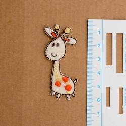 Mini Giraf Broderet strygemærke