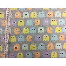 Pac-Man Digital print Bomuld/lycra økotex jersey