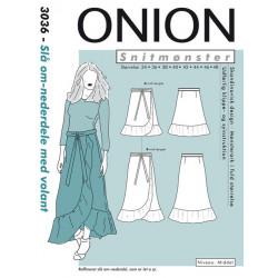 Slå-om nederdel m/volant Onion snitmønster