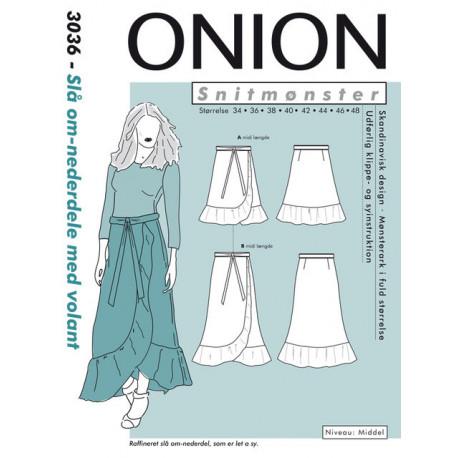 Slå om nederdel mvolant Onion snitmønster