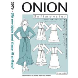 Slå-om kjole m/flæse Onion snitmønster