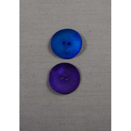 Knap 2-huls perlemor/gummi 27mm