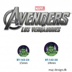Hulk knap med øje, 6 stk pr kort