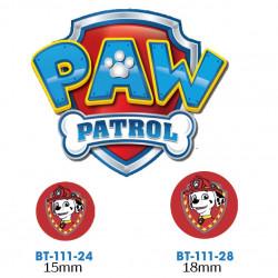 Paw Patrol Marshall knap med øje, 6 stk pr kort