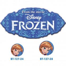 Frozen Anna knap med øje, 6 stk pr kort