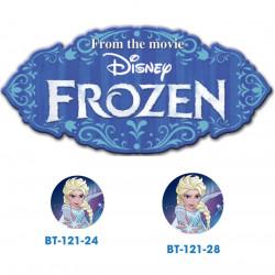 Frozen Elsa knap med øje, 6 stk pr kort