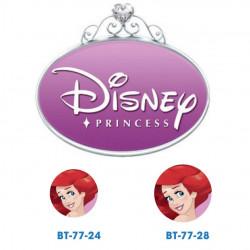 Disney prinsesse Ariel knap med øje, 6 stk pr kort
