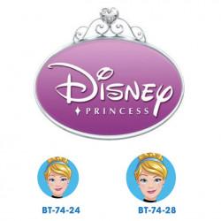 Disney prinsesse Askepot knapper med øje, 6 stk pr kort