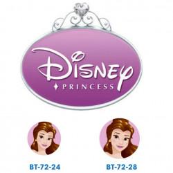 Disney prinsesse Bell knapper med øje, 6 stk pr kort