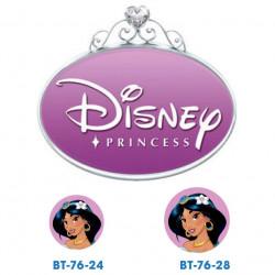 Disney prinsesse Jasmin knapper med øje, 6 stk pr kort