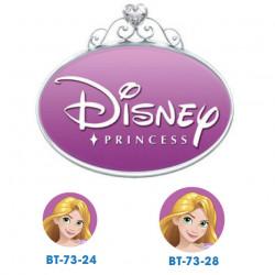 Disney prinsesse Rapunzel knapper med øje, 6 stk pr kort