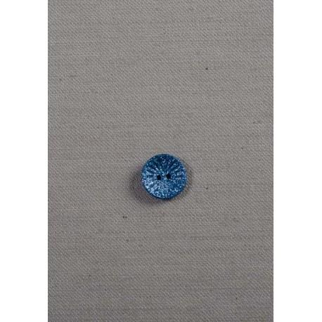2-huls metalicblå knap 14mm