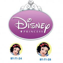 Disney prinsesse Snehvide knapper med øje, 6 stk pr kort
