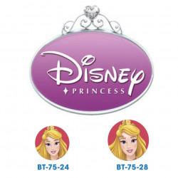 Disney prinsesse Tornerose knapper med øje, 6 stk pr kort