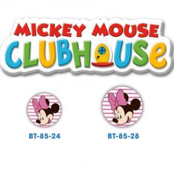 Disney Minnie Mouse knap med øje, 6 stk pr kort