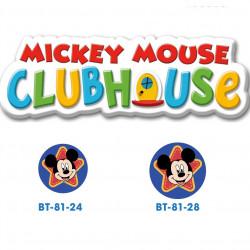 Disney Mickey Mouse knap med øje, 6 stk pr kort