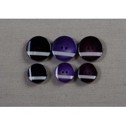 2-hul sort med perlemor