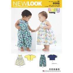 Babydragt og kjole New look snitmønster easy 6568