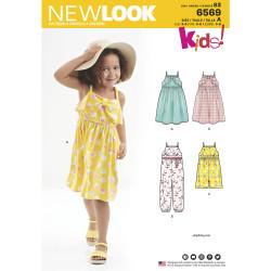 Pige kjole og jumpsuit snitmønster