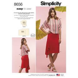 Bluse og nederdel Simplicity snitmønster easy 8656 A