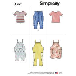 Børnetøj dreng/pige Simplicity snitmønster 8660 A