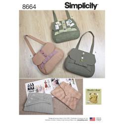 Vintage inspireret taske og clutch snitmønster